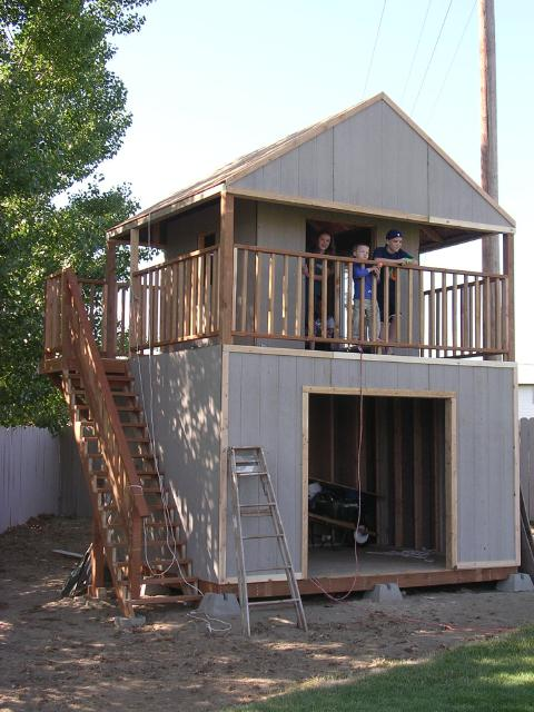 dave built this playhouse combination shed in the back